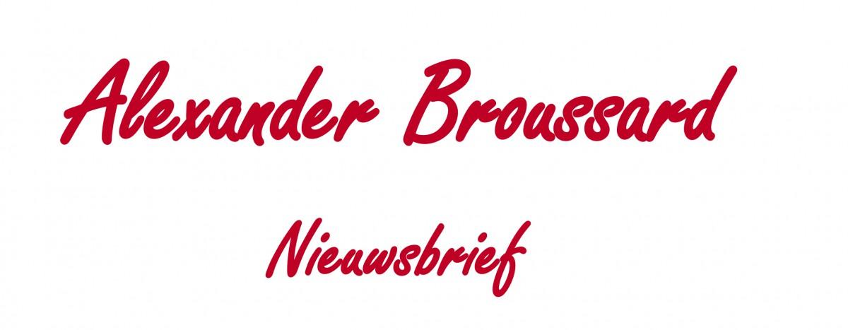 Alexander Broussard Nieuwsbrief-Rood